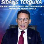 Pendiri OK OCE, Sandiaga Uno Raih Gelar Doktor dari UPH dengan Cumlaude
